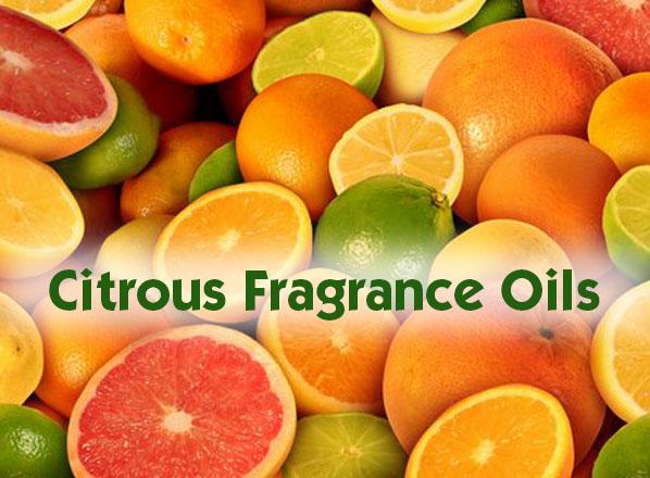 Citrous fragrance oil selection