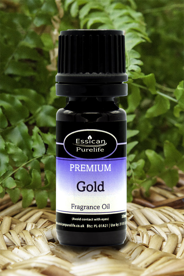 Gold fragrance oil from Essican Purelife   Fragrance Oils UK