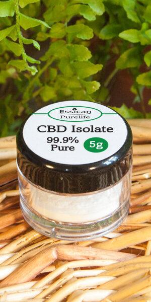 CBD Isolate 5g jar from Essican Purelife | CBD isolate UK