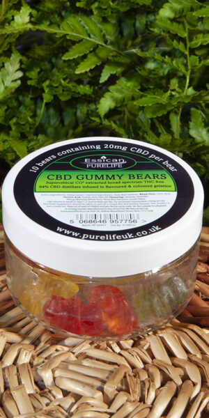 CBD Gummy Bears 10 x 20mg CBD bears from Essican Purelife | CBD Gummies UK
