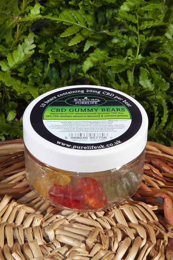CBD Gummy Bears 10 x 20mg CBD bears from Essican Purelife | CBD Gummies UK