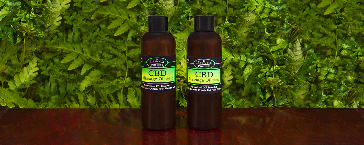 Essican Purelife CBD massage oil range | CBD massage oil UK