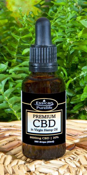 9000mg Premium CBD in Virgin Hemp oil 30ml bottle by Essican Purelife